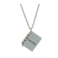 Writers Notebook Charm Necklace