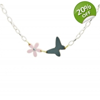 Tiny Dancer Floral Butterfly Neck..