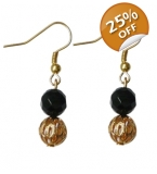 Black and gold Geo Lace earrings