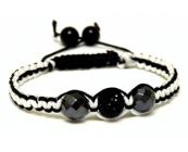 Unisex Black White Grey Crystal Twist
