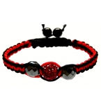 Black and red Crystal Twist bracelet
