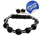 Full Crystal Twist Shamballa Bracelet