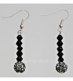Dark Beauty Cascade Crystal Drop Earrings