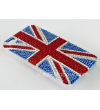 Iphone Blackberry Crystal Encrusted British Union Jack English Flag Case Cover