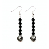 Dark Beauty Cascade Crystal Drop Earri..