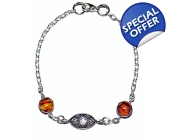 Ladies Ltd Edt Eastern All seeing Tiger eye Brac..