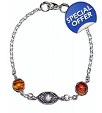 Ladies Ltd Edt Eastern All seeing Tiger eye Bracelet