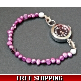 Fresh water pearl and Crystal Watch Br..