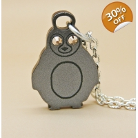 Rose gold and silver Penguin Char..