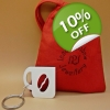 Coffee bean mug Charm K..
