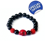 Crystal Red Skull Bracelet