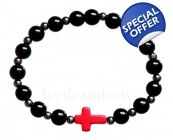 Mens Judas Cross Bracelet various colours
