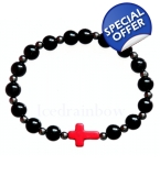 Mens Judas Cross Bracelet