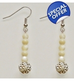 Special Edition Mother Of Pearl & Cascade Crystal Drop Earrings