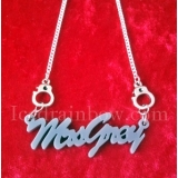 Custom Made Hand Cuff Name Necklace