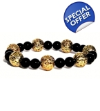 Onyx & Golden lace Bracelet