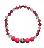 Strawberries and cream Crystal Bracelet