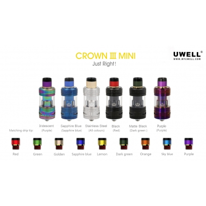 Uwell Crown 3 Mini Tank 2ml/4.5ml - In Stock