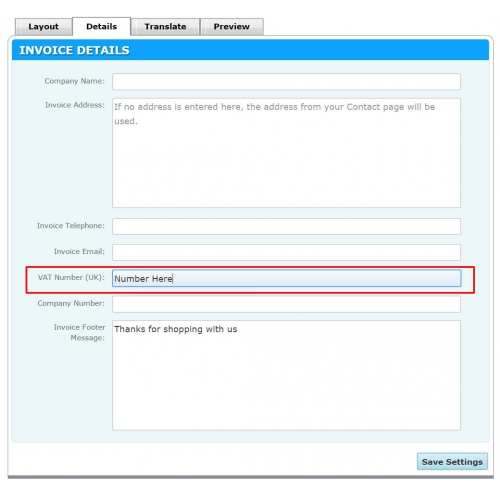 Basket Settings: Customer Accounts