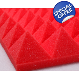 Red Foam Car Sound Insulation NVH Foam..