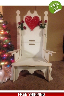Santa Throne W/Removable Arms And Free Shipping ..