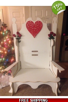 VX SPECIAL Santa Bench W/Removable Arms WITH FRE..