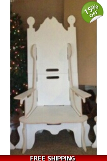 Mr. & Mrs. CLAUS CHAIR W/REMOVABLE ARMS