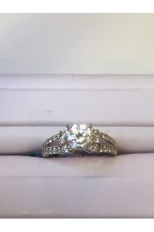 Split Band Diamond Ring