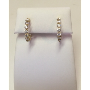 In/Out Diamond Hoops