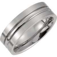 Titanium Grooved Band