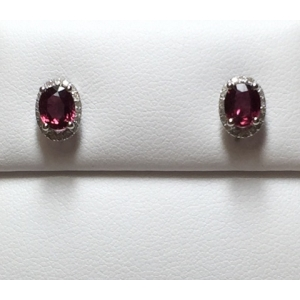 Ruby & Diamond Stud Ear..