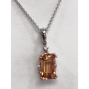 Citrine Diamond Necklace