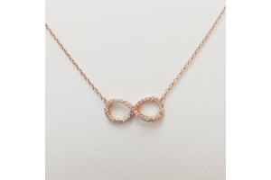 Rose Gold Infinity Neck..