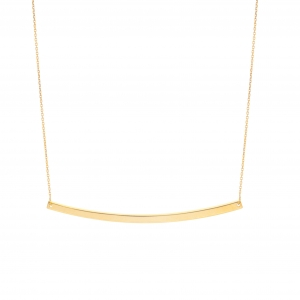 Curved Bar Necklace 14K