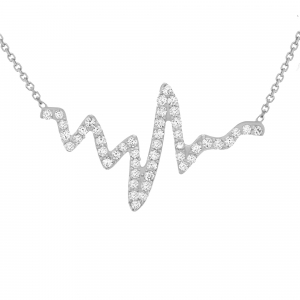 Heartbeat Necklace 14K