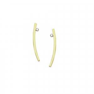 Curved Bar Earrings 14K