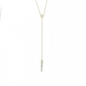 Lariat Necklace 14K