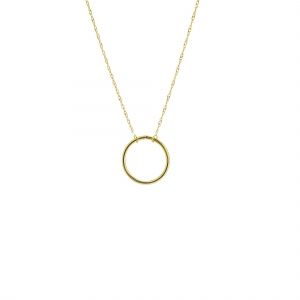 14K Open Circle Necklace