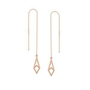 Threader Earrings Rose Gold
