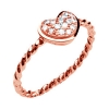 Stackable Heart CZ Ring