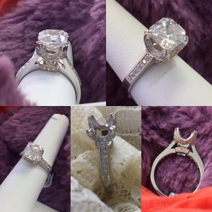 Fancy Diamond Semi-Mount Engagment Ring