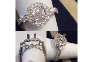 Halo Diamond Engagement..