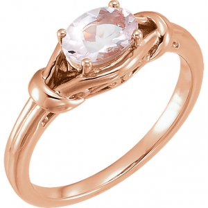 Morganite Knot Ring