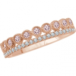 Morganite & Diamond Ring