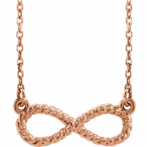 Rose Gold Rope Infinity Necklace
