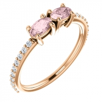 Morganite Two Stone Ring