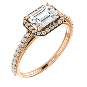 Sideways Emerald Cut Engagem..