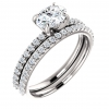 Oval Engagement Ring Semi-Mount