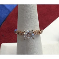Rose Gold Engagement semi-mounting