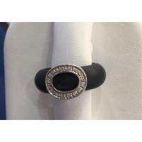 Rubber & White Gold Diamond Ring